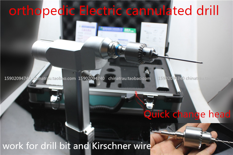 Medical Small animal orthopedic instrument electric cannulated bone drill hollow quick coupling high temperature sterilizing VET medical electric drill medical bone drill apparats high pressure hollow drill kirschner wire