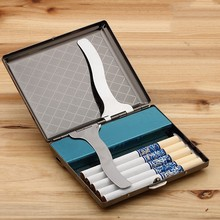 New Stainless Steel Cigarette Case Electronic Rechargeable Windproof Flameless USB Cigarette Lighter