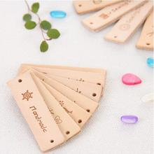 12PCS Vegetable tanned skin Labels for Clothes Leather Tags Handmade DIY Crossbody Bags Shoes Sewing Accessories