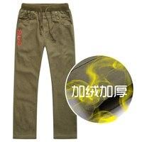 2016 New Winter Boy Trousers Pants Plus Velvet Thicken Child Trousers 100 Cotton Casual Long Pants