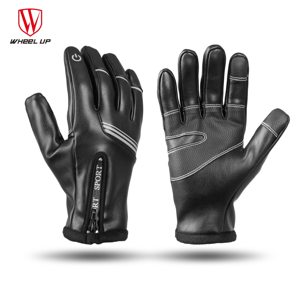 WHEEL UP Full Finger Cycling Gloves Touch Screen Thermal fleece bike Gloves Sport Road MTB Breathable Bicycle Glove Women Men
