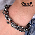 Stainless Steel Man's Super Quality Personality Man's Cross Skull Bracelet  mens jewelry  BC4118