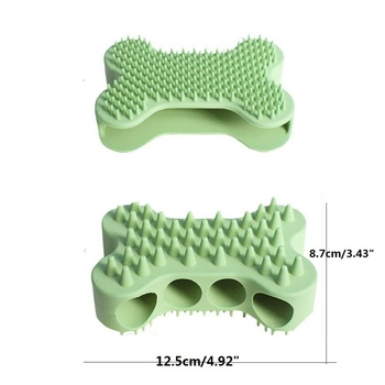 2 in 1 Dog and Cats Silicone Grooming Shampoo Shedding Hair Massage Silicone Brush Comb For Small, Medium & Large Dogs And Cats 1