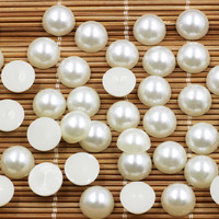 1000 Pcs Lot 14mm ABS Imitation Pearl Half Round Pearls Rice White Pearls Loose Beads