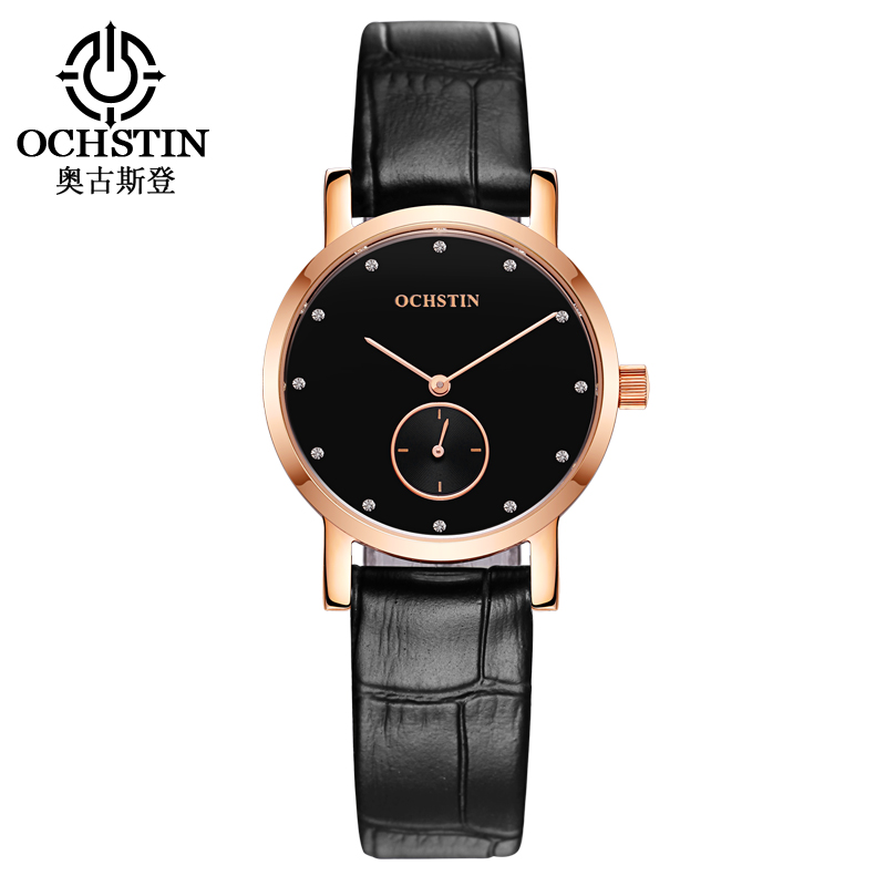 Men Watch Top Luxury Brand OCHSTIN Fashion Clock Women Watches Genuine Leather Strap Waterproof Quartz Wristwatches