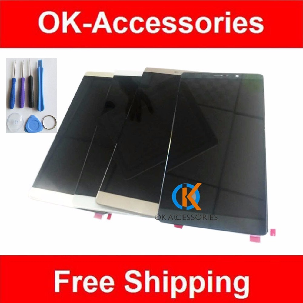 6.0 Inches Black White Gold Color For Huawei Mate 8 Mate8 LCD Display+Touch Screen Digitizer Assembly 1PC/Lot Good Quality