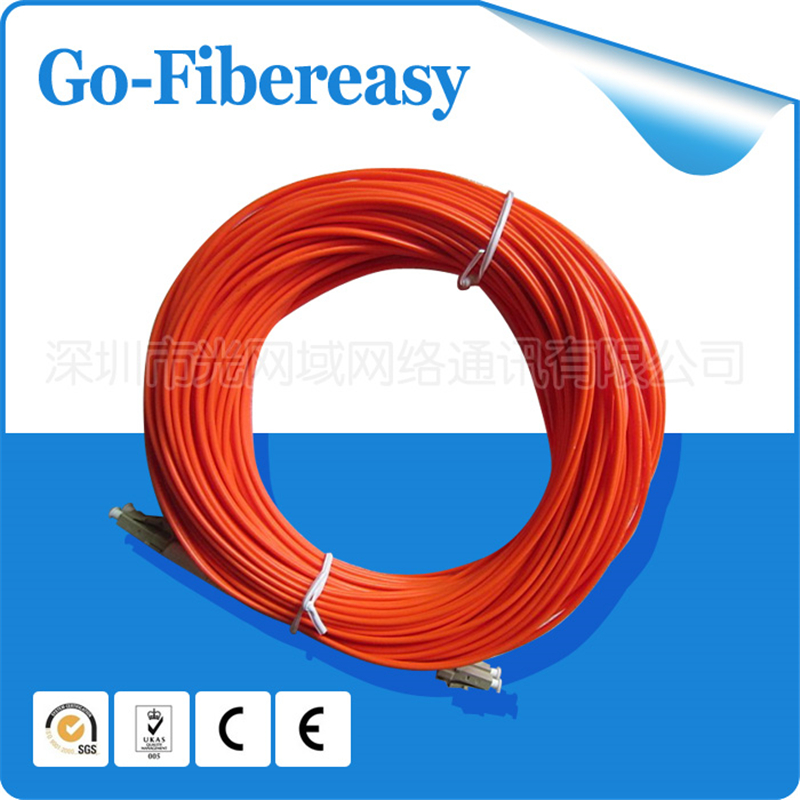 1pcs Fiber Patch Cord LC/UPC-LC/UPC Multi-mode Duplex fiber 62.5/125um PVC cable 2.0mm 50meters