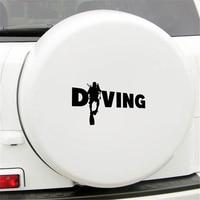 Fashion Diver Diving Sticker Car Auto Bumper Window Computer Decal Decoration PET Reflective Material 5