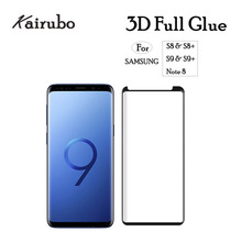 10pcs 3D Tempered Glass For Samsung S9 S8 Plus Full Glue Screen Protector Case Friendly Note 8 Adhesive GLass
