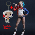 Crazy Toys Suicide Squad Harley Quinn Action Figure and Harley Quinn Keychain Doll Anime Collectible Model Toy 26cm In Boxed