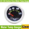 52mm Racing Car Water Temp Gauge Meter With Sensor Carbon Face  Water Temp Meter Water Temperature Gauge Auto Gauge YC100034
