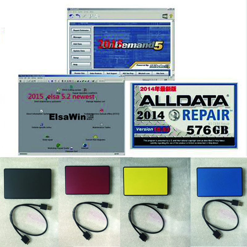 2019 Newest Alldata 10.53 All Data Auto Repair Software Alldata Mitchell On Demand 2015+ElsaWin+Vivid Workshop Alldata 1tb Hdd