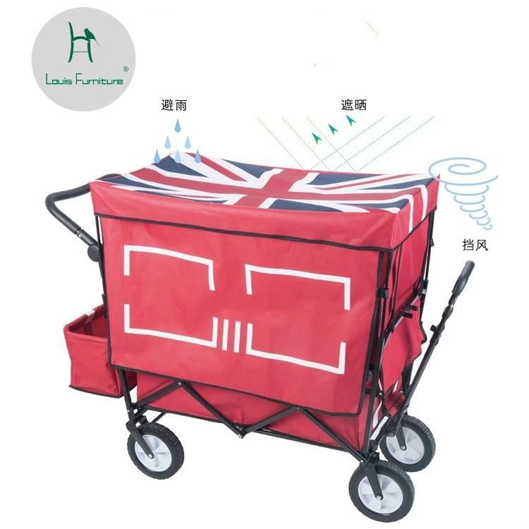 Iniziativa Louis Moda Cucina Carrelli Shopping Pieghevole Bambino Consegna Pull Rod Carrello Per I Bagagli Di Grandi Dimensioni A Quattro Giri