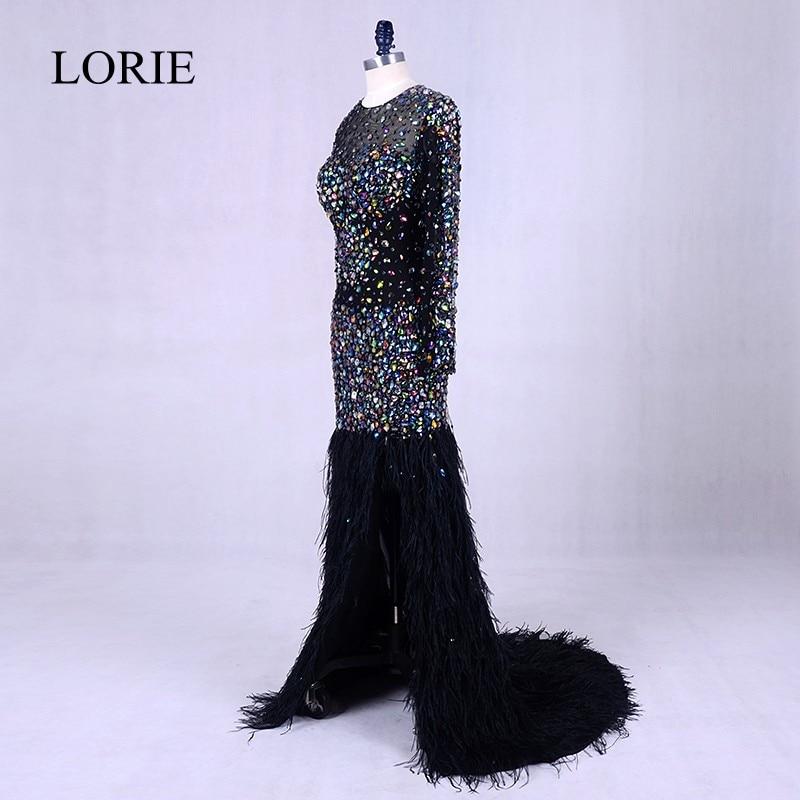 Crna večernja haljina s kristalima 2019 Abendkleider perje Bling - Haljina za posebne prigode - Foto 2