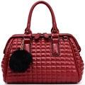 2017 Original Brand Designer Leather Women's Bag Handbag with Fur Ball Charms Messenger ladies hand Bags Tote bolsos mujer FR219
