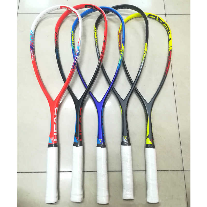 Carbon Head Squash Racket Head Squash Racquets With Squash String Bag Speed Sports Training Head Raquete De Squash Carbon Racket