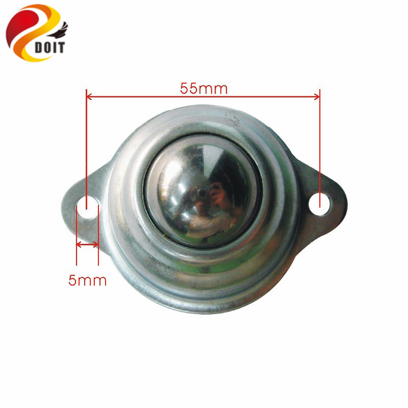 DOIT 30mm Robot Cow Universal Wheels Tricycle Robot All Wheel Steel Ball Casters Swivel Round Furniture Ball Caster 63a 5pin novel industrial hide direct socket connector sfn 3352 concealed installation socket 3p n e cable connector ip67