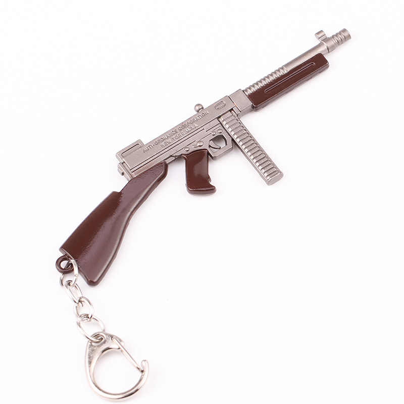PUBG sleutelhanger CS GAAN Wapen Sleutelhangers AK47 Model 98 K Sniper Rifle Key Ring Voor mannen Gift Souvenir 2019 Populaire Spel