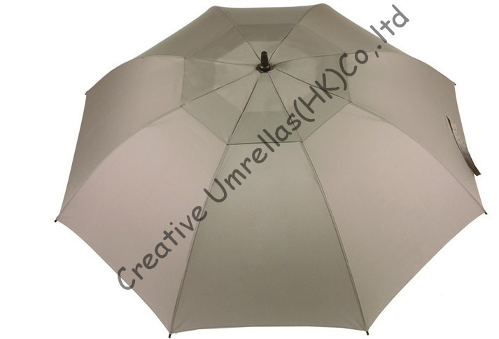 Windproof,anti-static straight golf umbrellas 14mm fiberglass shaft,business umbrellas,auto open,double layers