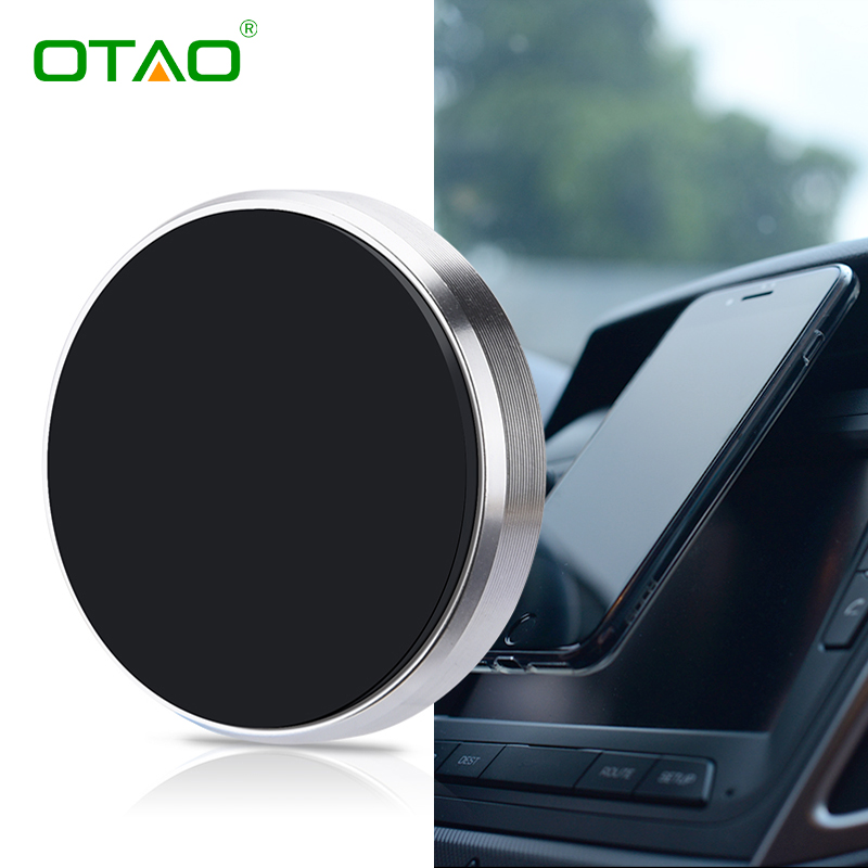 OTAO magnetic mobile phone holder magnet universal phone stand portable mini car dashboad phone GPS holder for iPhone for Xiaomi