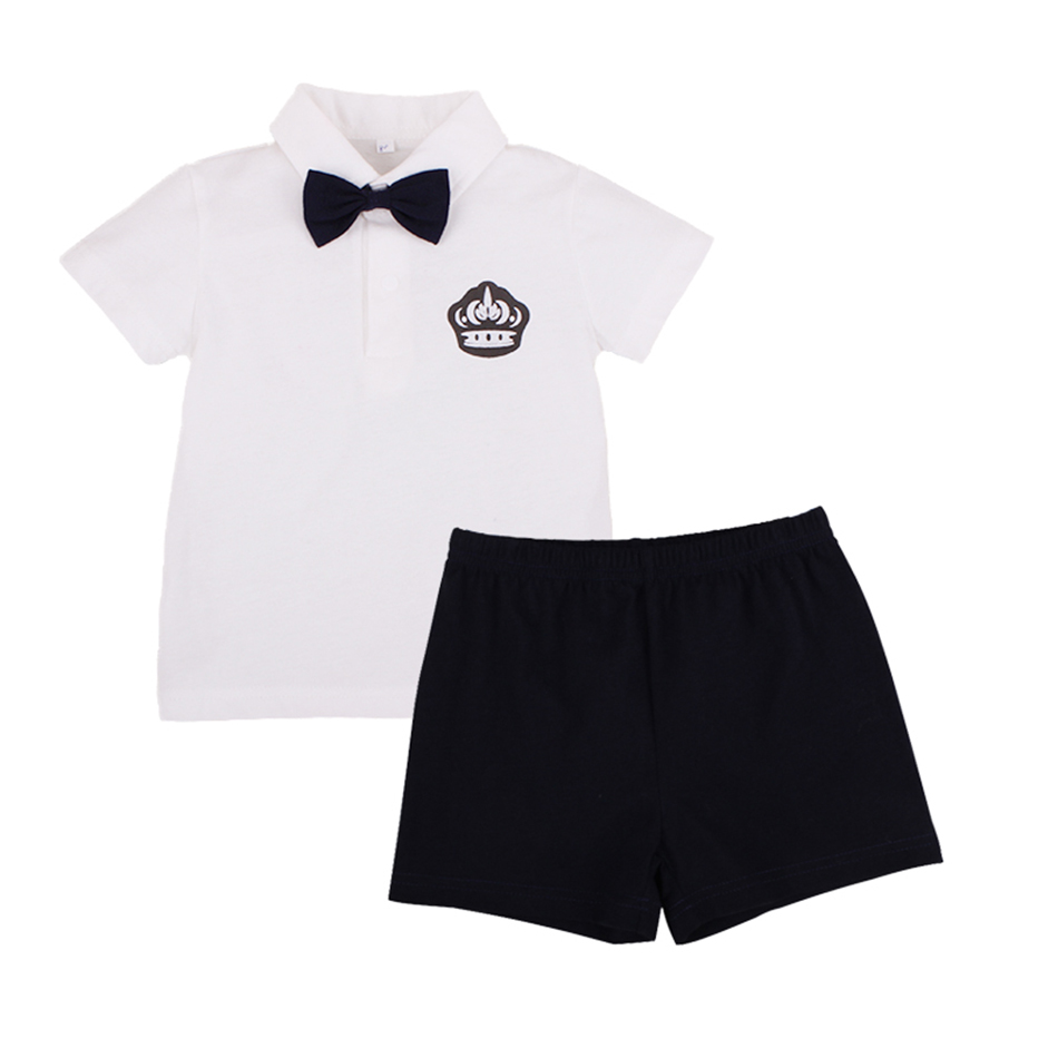 Baby Set Baby Boy Clothes 2 Pieces Clothing Sets Cotton Clothing Infant Baby T-shirt+Pants Children Gentleman Style Summer Sets