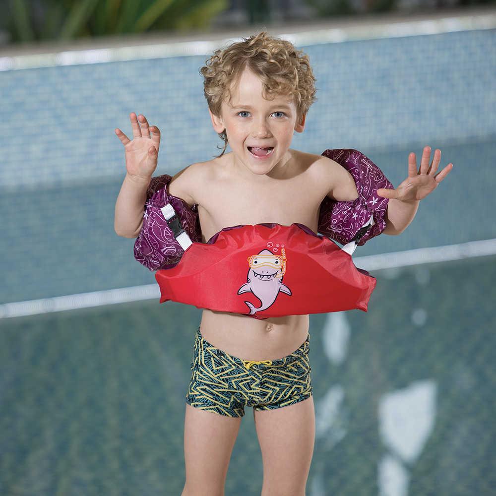 Boy Girl Swim Arm Bands Swimming Floats Vest Puddle Jumper Life Jacket Child Kid