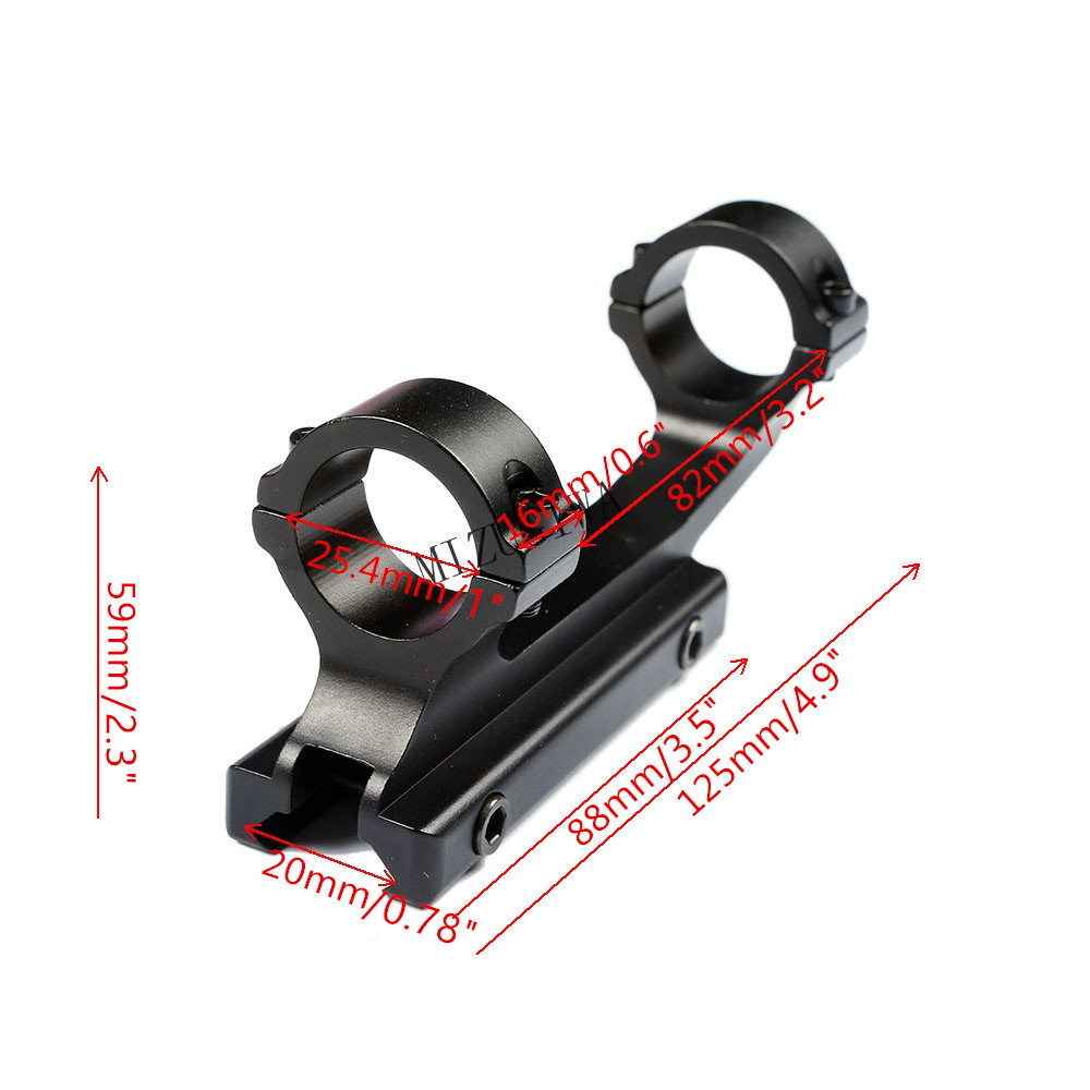 Rifle Scope Mount 1 Pair Picatinny//Weaver 25.4mm 1 inch ring Medium Profile CNC