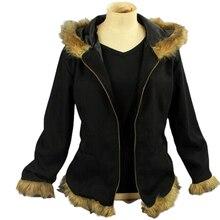 DuRaRaRa Orihara Izaya Cosplay Costumes Vogue Black Coat Jacket Halloween clothes durarara orihara izaya berber fleece black hoodie with cat ears cosplay costume