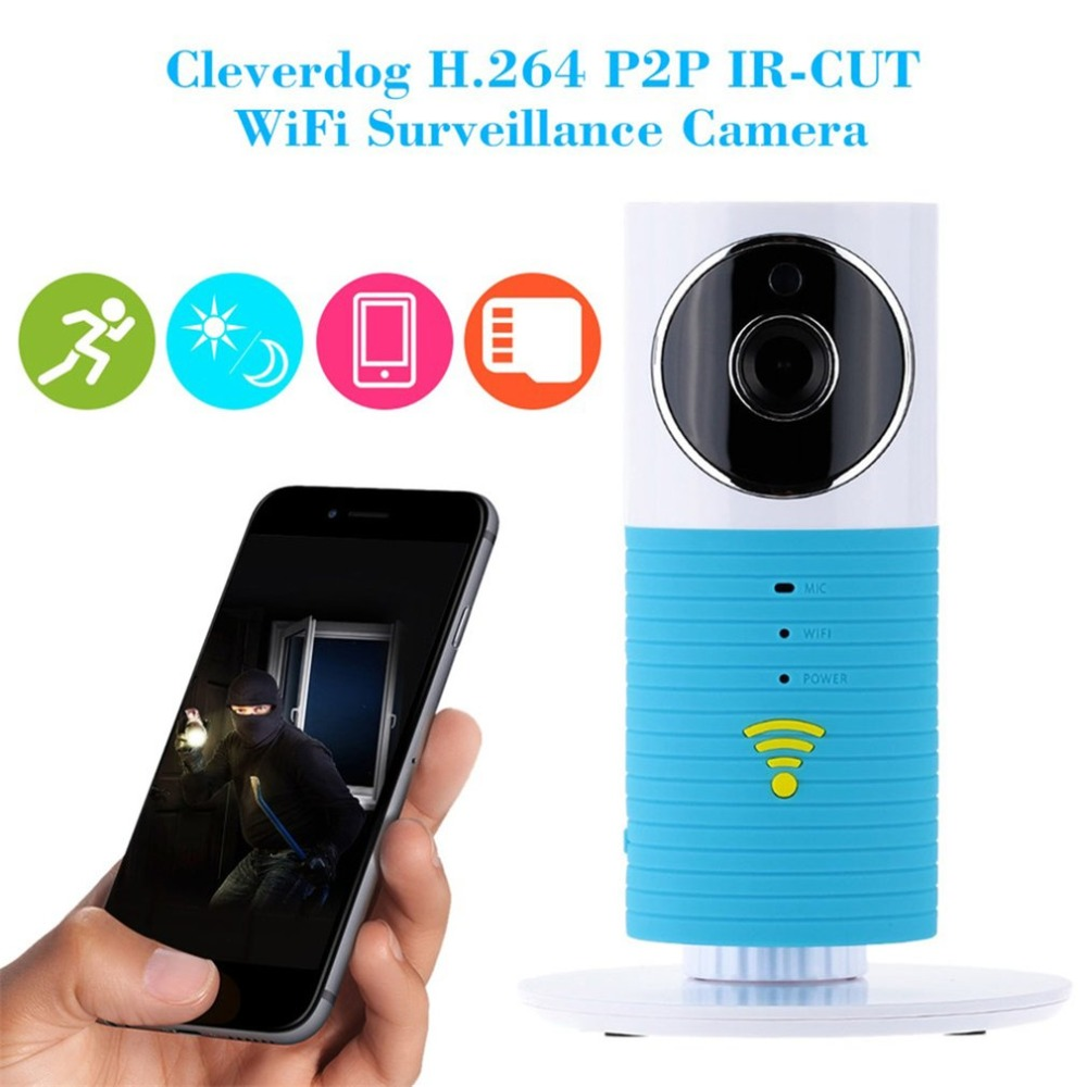 все цены на 720P HD Clever Dog Wifi Home Security IP Camera Baby Monitor Intercom Smart Phone Audio Night Vision cam de seguridad онлайн
