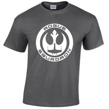 ROGUE SQUADRON T SHIRT STAR MENS TROOPER STORM WARS REBEL FIGHTER X WING JEDI Free shipping  Harajuku Tops Fashion Classic