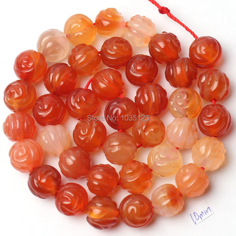Free Shipping 10mm Carved Roses Round Natural Red Carnelian Agates Loose Beads Strand 15 DIY Creative Jewellery Making w1115