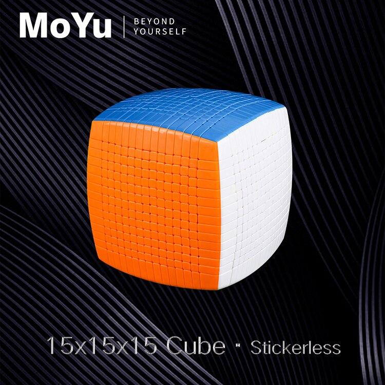 Nouvelle Promo MOYU 15 couches 15x15x15 noir, sans autocollant Cube vitesse magique Puzzle 15x15 éducatifs Cubo magico jouets pour enfant - 3