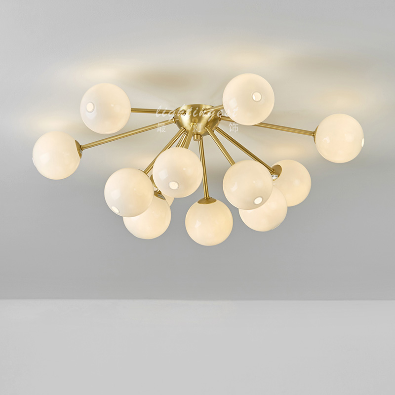 colored led ring chandelier chandeliers pendants New designer post modern glass ball restaurant living room stylish ceiling lamp in Pendant Lights from Lights Lighting