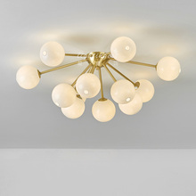 colored led ring chandelier chandeliers pendants New designer post-modern glass ball restaurant living room stylish ceiling lamp