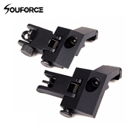 1 Pair Tactical Front And Rear Flip Up 45 Degree Offset Rapid Backup Iron Sight Transition