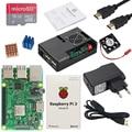 Original Raspberry Pi 3B or Raspberry Pi 3B+ Board with Built-in WiFi&Bluetooth + ABS Case + Power Supply + Heat Sink RPI 3