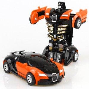Image 2 - שינוי צעצוע רכב התנגשות הפיכת רובוט דגם מכונית צעצוע מיני עיוות מכונית אינרציה צעצוע הטוב ביותר לילדים ילד מתנה