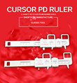 PD ruler ,different model  PVC ruler welcome print logo 20pcs glasses accessories wholesale free shipping