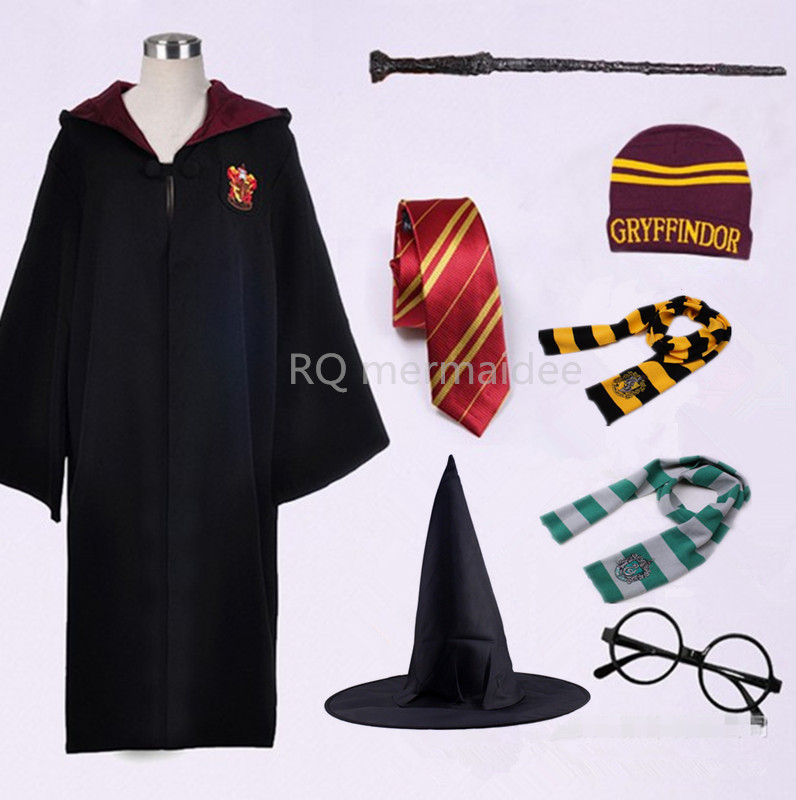HOT!Adult Kids Potter Gryffindor Cloak Robe Women Men Hufflepuff Ravenclaw Slytherin Clothing for Harris Halloween Costume Cos