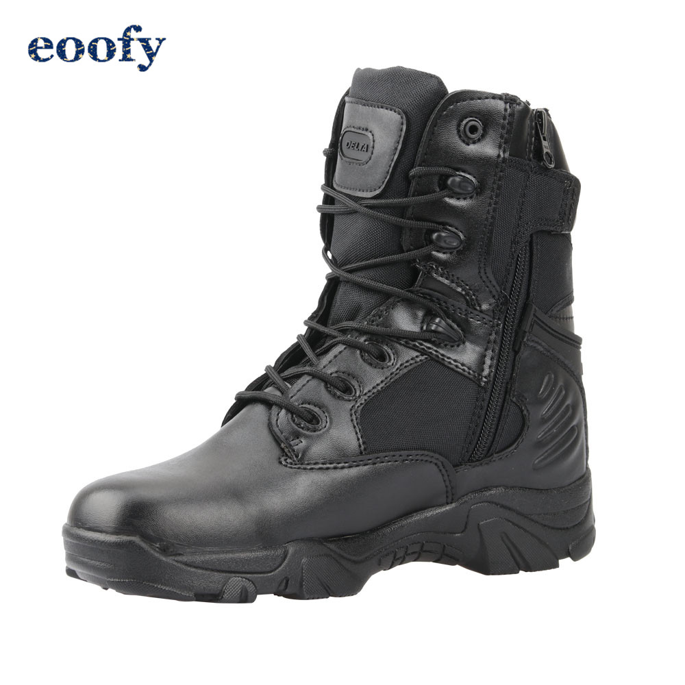 Desert Tactical Military Boots Leather Combat Ankle Boots Men's Outdoor Work shoes Climbing Army Winter Snow Boots 1