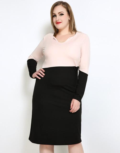 Cute Ann Womens Plus Size Cocktail Party Dress Color Blocked Long