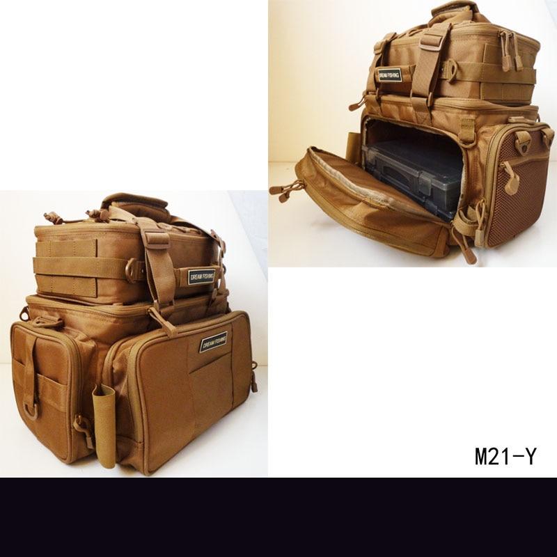 Large Capacity Fishing Bag Multifunctional Portable Outdoor Bag Hand Bag DIY Pack Hiking Camping Bolsa De