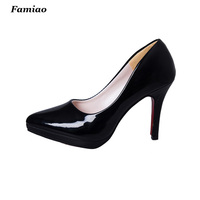 New Arrive 2016 Women Stiletto High Heel Shoes Sexy Lady Platform Patent Pumps Spring Fashion Prom