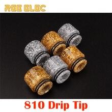 REE ELEC Resin 810 Drip Tip For Rda Rba Rta Atomizer Tank Dual O Rings Wide