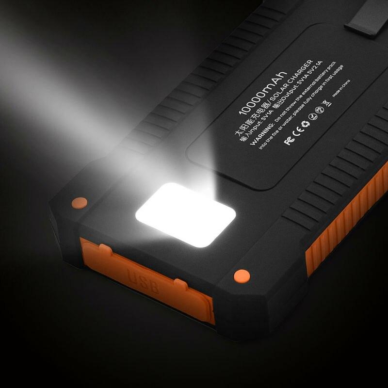 imágenes para Hot moda cargador solar 10000 mah portable solar power bank batería externa para iphone ipad air mini teléfono móvil y tabletas.
