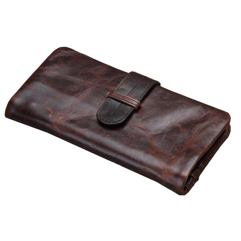 Vintage glossing crazy horse cow leather grain men wallet genuine leather wallets men's clutch dollar bag man coin purse handbag men vintage wallet pu leather dollar