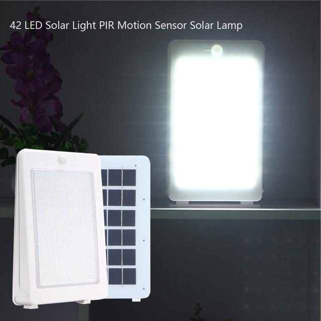 42 LED Solar Light PIR Motion Sensor solar Lamp 850LM IP65 Outdoor wall lamp Pathway Balcony Porch Fence Garden Lights