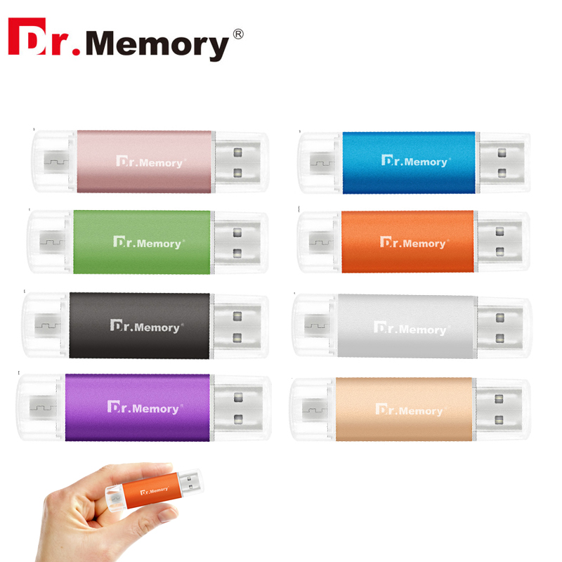 OTG USB Flash Drive 32GB For Android Mobile Phone Metal Colorful Pendrives 64GB Memory Stick 4GB 8GB 16GB Pen Drives For Samsung