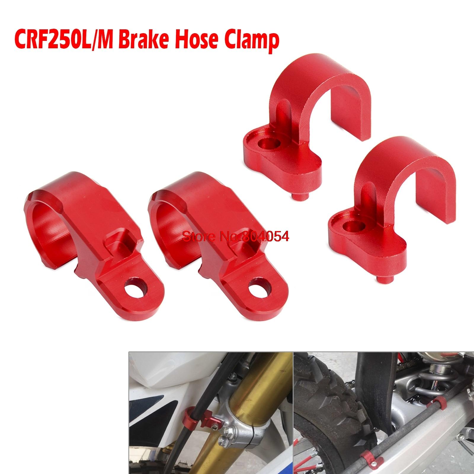 CNC Front & Rear Brake Line Hose Clamp Holder For Honda CRF250L CRF250M 2012 - 2015 2013 2014 CRF250 L/M cnc front brake line hose clamps holder for suzuki rm85 rm125 rm250 rmz250 rmz450 rmx450z drz400sm motorcycle