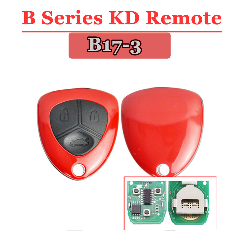 (1 Piece) free shipping B17 KD900 remote 3 Button Remote Key with Red colour B series key for kd900 URG200 remote master free shipping 4 1 button full remote key shell for chrylser dodge jeep 10 piece lot